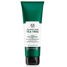 The Body Shop 美體小舖 臉部去角質-茶樹3效淨膚-磨砂-面膜