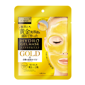 Utena 佑天蘭 保養面膜-2片式奢華水凝膠面膜(黃金彈力亮白精華) Premium Puresa Hydro Gel Mask Gold Premium Puresa Golden Jelly Mask HA