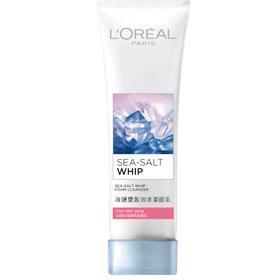 L`OREAL PARiS 巴黎萊雅 臉部保養系列*-海鹽豐盈泡沫潔面乳-法國玫瑰精粹滋潤型